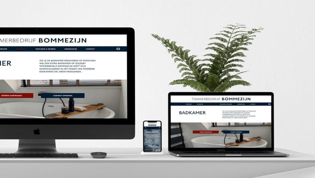 Website gemaakt voor Timmerbedrijf Bommezijn